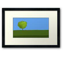 One Tree Field Framed Print