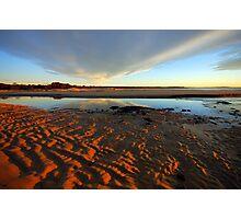 River Ridges, Reflections & Rays Photographic Print