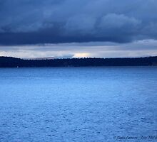 Storm Over Flathead Lake by rocamiadesign
