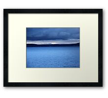 Storm Over Flathead Lake Framed Print