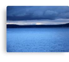 Storm Over Flathead Lake Canvas Print
