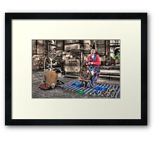Spinner Framed Print