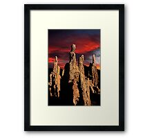 Sunset Over Mono Lake. Framed Print