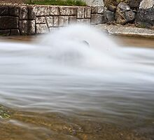 Stream Striking A Rock by Paul Budge