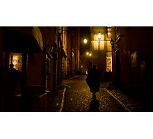 The Secrets Of Gamla Stan At Night Photographic Print
