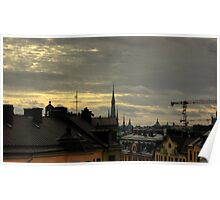 Stockholm Rooftops Poster