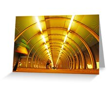 London Golden Architecture - Poplar Docklands Greeting Card