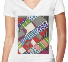 blocks-2011-06 Women's Fitted V-Neck T-Shirt