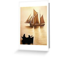 Boats In Sun Light Greeting Card