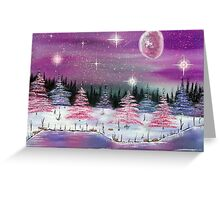 pink winter wonderland Greeting Card