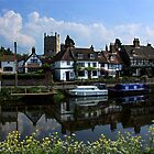 Reflections of Tewkesbury by Mark Hughes