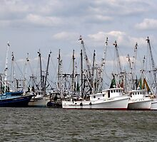 Chincoteaque Fishing Vessels by searchlight