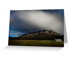 Mt Roland rainbow Greeting Card