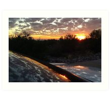 Lively Sunset in Peralta Trails. Art Print