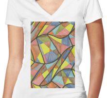 blocks-2011-02 Women's Fitted V-Neck T-Shirt