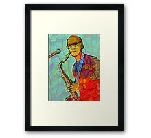 Collaboration with Dave Edwards - the sax guy Framed Print