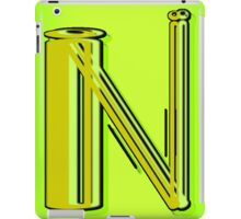 The Alphabet  The letter N iPad Case/Skin