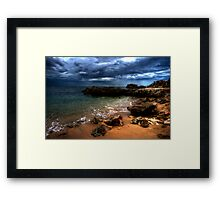 Storm off Point Perron Framed Print