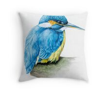 River Kingfisher Throw Pillow