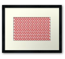 Jiu-Jitsu Red Framed Print