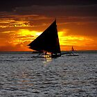 sunset - boracay, philippines by kenfarnaso