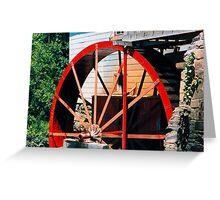 Red Mill Wheel, Greensboro Greeting Card