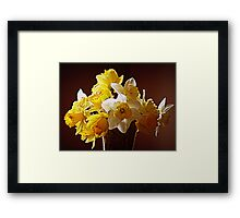 A Bouquet Of Daffodils Framed Print