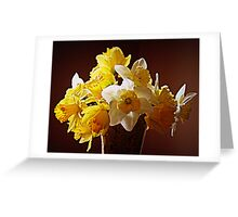 A Bouquet Of Daffodils Greeting Card