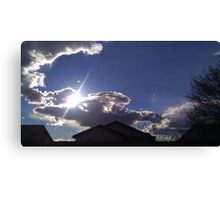 Cold Days with Bright Clouds Canvas Print