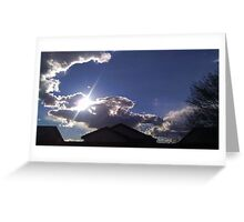 Cold Days with Bright Clouds Greeting Card