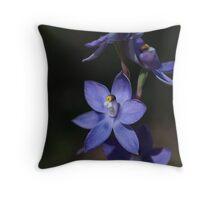 Slender Sun Orchid Throw Pillow
