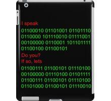 Speak binary? iPad Case/Skin