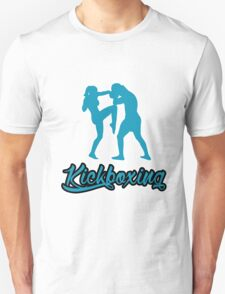 Kickboxing Female Knee Blue  Unisex T-Shirt