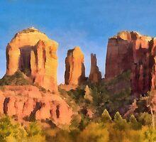 Red Rocks at Sedona by Walter Colvin