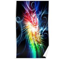 Colour Swirls Poster