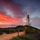 Morning lighthouse by Ray Yang