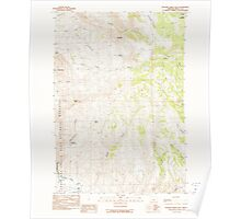 USGS Topo Map Oregon Picture Gorge East 281086 1990 24000 Poster
