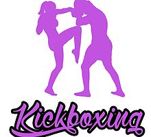 Kickboxing Female Knee Purple  by yin888