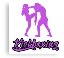 Kickboxing Female Knee Purple  Canvas Print