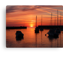 Easter Morning in Bray Harbour Co.Wicklow Ireland Canvas Print