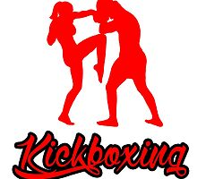 Kickboxing Female Knee Red by yin888