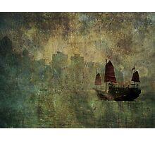 Aqua Luna Photographic Print