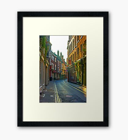Low Petergate - York Framed Print