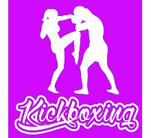 Kickboxing Female Knee White  Photographic Print