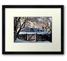 Church And Gate Framed Print