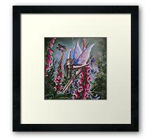 Foxglove fairy faerie fantasy elf pixie butterfly Framed Print