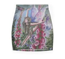 Foxglove fairy faerie fantasy elf pixie butterfly Mini Skirt