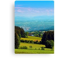 Urban and rural all together Canvas Print