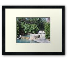 Jacuzzi with Rhododendrum and Private Seating Area Framed Print