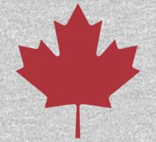 Canadian Canuck Maple Leaf Flag Bedspread Duvet Pillow Inverse One Piece - Long Sleeve